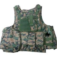 Buy cheap Protective Military Combat Vest With Three / Four Pouches And Chest Protector from wholesalers