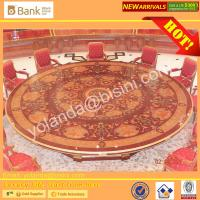 (BK0109-0013T)Luxurious Royal Round Dining Table &Chairs for 12 People/Gorgeous Gilded Brass Dining Set with Handmade Manufactures