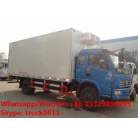 Buy cheap 2018s YEAR-END PROMOTION! new Dongfeng 6tons refrigerated truck with meat hooks for transporting fresh meat for sale from wholesalers
