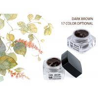 Buy cheap Organic Colour Eyebrow Tattoo Pigment Dark Brown Eyebrow Microblading Ink Pigments from wholesalers