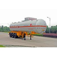 Quality Transportation Fuel Petroleum / Gas Tank Truck Capacity 58300L / Semi Trailer for sale