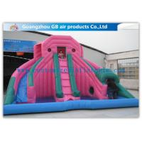 Buy cheap Custom Pink Double Inflatable Water Slides For Toddlers Plays With Pool from wholesalers
