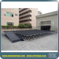 Mobile stage with ramps portable stage with aluminum risers hot sale to USA market Manufactures