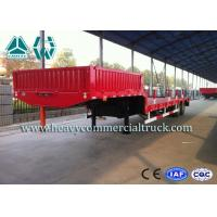 Buy cheap High Efficiency Low Bed Semi Trailer For Road Transport / Heavy Duty Machine from wholesalers