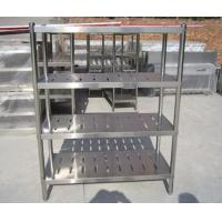Buy cheap Customized Commercial Restarant / Supermarket Stainless Steel Display Racks Light duty structure from wholesalers