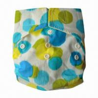 Buy cheap Reusable One-size Pocket Cloth Diaper with 100% Cotton Printed PUL Outer Fabric from wholesalers