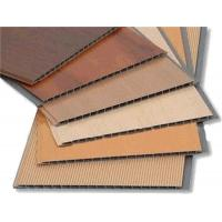 Wooden Style Laminating UPVC Wall Panels , PVC bathroom wall cladding Decoration Manufactures