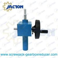 Buy cheap hand cranked mechanical screw jacks, hand crank worm gear lifter, manual lifting jack from wholesalers