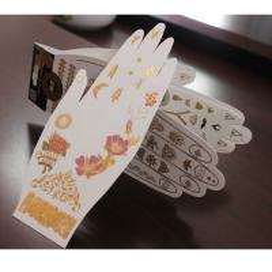 China Metallic Gold Foil Temporary Tattoo Sticker on sale