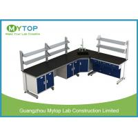 Buy cheap L Shape Hospital Lab Furniture Laboratory Desk With Plywood Cabinet Epoxy Worktop from wholesalers