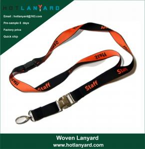 Wholesale Custom Logo Sublimation Heated Transfer Neck Nylon Woven Polyester Printing Lanyard for Promotional Gift from china suppliers
