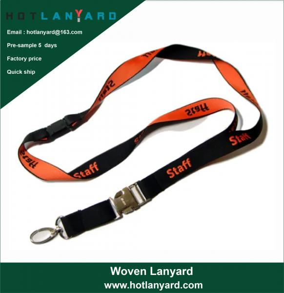Quality Custom Logo Sublimation Heated Transfer Neck Nylon Woven Polyester Printing Lanyard for Promotional Gift for sale