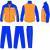 Football Tracksuit Zipped Pants Pocket Silk Screen Printing Sportswear Manufactures