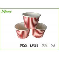 Buy cheap 150ml Red Stripe Ice Cream Paper Cups For Children Party , SGS LFGB certification from wholesalers