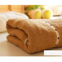 Buy cheap Thickening / Widened Pure Cotton Bath Towels Brown Colors Various Designs from wholesalers