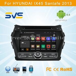 China Android 4.4 car dvd player GPS navigation for Hyundai IX45 Santafe 2012 2013 2014 8 inch on sale