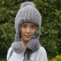 Buy cheap Checked Style Knit Winter Hat , Adult Size Womens Knit Hats Customized Color from wholesalers
