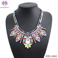 Buy cheap Newest sweet flowers exaggerated fashion necklace for girls from wholesalers