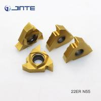 Buy cheap 22IR N55 Internal Threading Inserts , Lathe Threading Tool Inserts ISO 9001 Approved from wholesalers