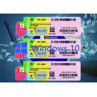 China Windows 10 genuine Product Key Software 64BIT Systems Multi Language on sale