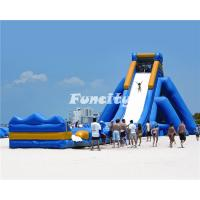 Buy cheap Big Inflatable Adult Water Slide With Long Playground Slide Playing Exciting from wholesalers