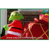 Buy cheap Promotional Inflatable Christmas Decoration With A Dog , Oxford Cloth or PVC from wholesalers