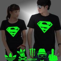 Buy cheap hot cake flashing superman t-shirt/cotton t-shirt/ custom t-shirt with customized design from wholesalers