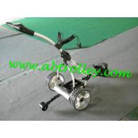 Buy cheap Power Trolley Folding Golf Caddy With New Handle 36 Holes lithium Battery from wholesalers