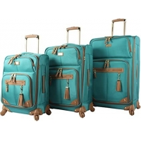 Buy cheap 3 Piece Softside Expandable Lightweight Spinner Suitcase Set product