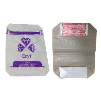 China Colorful Printing Woven Polypropylene Cement Bags , PP Bags For Cement Packing on sale