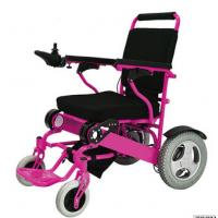 Buy cheap 12A 250W lightweight folding brushless electric wheelchair from wholesalers
