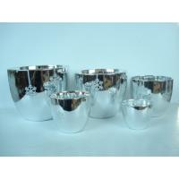 Silver Electroplated Ceramic Flower Pots For Plants Indoor 15.1 X 15.1 X 14.5 Cm Manufactures