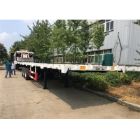 Buy cheap Transport Flat Bed 40ft 3 Axle Shipping Container Trailer from wholesalers