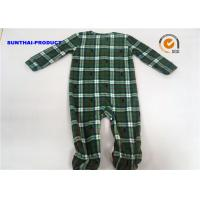 Buy cheap Grid AOP Baby Pram Suit YKK Zipper Closure 100% Polyester Micro Fleece Coverall from wholesalers