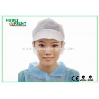 Buy cheap PP Single Snood Cap Disposable Head Cap with Peak and Hairnet from wholesalers