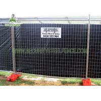 Buy cheap 4ft Height Orange Temporary Construction Fence HighStrength With Metal Feet from wholesalers