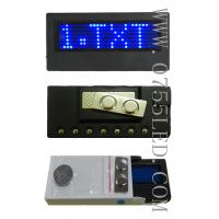 Buy cheap led badge led price signs led name tags pixel 7*29 Blue led sign board 90*34*8mm from wholesalers