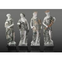 Quality Four Season Goddess Garden White Marble Sculptures - 70'' Tall for sale