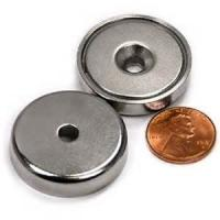 Buy cheap N52 highest grade neodymium magnet with countersink magnets with M5 thread from wholesalers