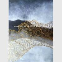 China Framed Abstract Art Canvas Paintings Painting 3D Gold Foil On Polyester Fabric on sale