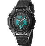 Buy cheap Nylon Strap Dual Display Analog Digital Men nylon strap watches Fashion boys sports watch from wholesalers
