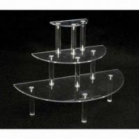 Buy cheap Acrylic Round Display Table, 3 Tiers and Shelves from wholesalers