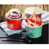 Buy cheap A series of custom logo printed double PE coated icecream paper cup with lid from Wuhan manufacturer bagplastics bagease from wholesalers