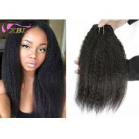 Kinky Straight Virgin Indian Remy Hair , Smooth 18 Inches Human Wavy Virgin Indian Hair Weave