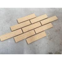 M36413-5 Building Wall Cladding Material Thin Smooth Face Brick With Yellow Color Manufactures