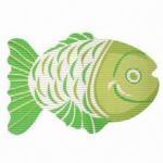 Buy cheap PVC Foam Printed Non-slip Bath/Bathroom Grip Mat with Fish Shape from wholesalers