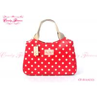 Buy cheap Cute Red And White Polka Dot Womens Tote Bags Customized Light from wholesalers