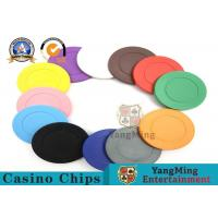 Buy cheap Lightweight ABS Hotstamping Logo Dice Poker Chip / Colorful Roulette Poker Chips from wholesalers