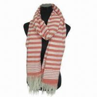 Wholesale Cashmere-like Scarf, Customized Specifications are Accepted, Measuring 67 x 178cm +10 x 2cm from china suppliers