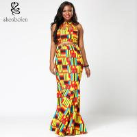 Buy cheap Ankara Hollow Out Halter African Print Maxi Dresses , Latest African Fashion Dresses from wholesalers
